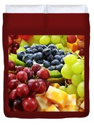 Fresh Fruits And Cheese Duvet Cover