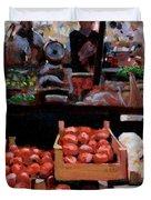 Fresh Fruits And Vegetables Duvet Cover