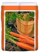 Fresh Garden Vegetables Duvet Cover