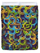 Fresh Geometric Circle Segment Pattern Duvet Cover