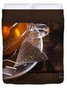 Fresh Glass Cup Of Tea Duvet Cover