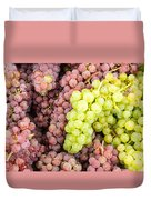 Fresh Grapes On Display Duvet Cover