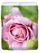Fresh Morning Rose Duvet Cover