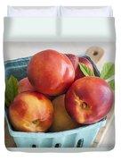 Fresh Nectarines Duvet Cover