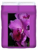 Fresh Orchid Duvet Cover