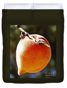 Fresh Peach Duvet Cover