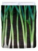 Fresh Picked Garlic Duvet Cover
