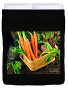 Fresh Picked Healthy Garden Vegetables Duvet Cover