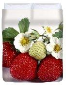 Gardenfresh Strawberries Duvet Cover