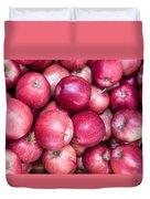 Fresh Red Apples Duvet Cover