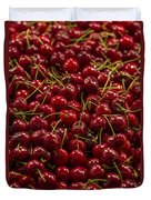 Fresh Red Cherries Duvet Cover