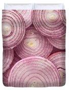 Fresh Red Onion Duvet Cover
