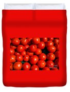Fresh Ripe Red Tomatoes Duvet Cover by Edward Fielding