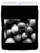 Fresh Ripening Tomatoes In Black And White. Duvet Cover