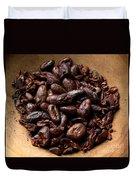 Fresh Roasted Cocoa Beans - Nibs Duvet Cover