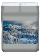 Fresh Snow On The Mountain Duvet Cover