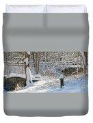Fresh Snowfall  Duvet Cover