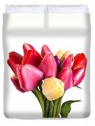Fresh Spring Tulip Flowers Duvet Cover