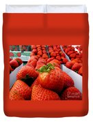 Fresh Strawberries Duvet Cover by Peggy Hughes
