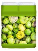 Fresh Tomatillos Duvet Cover