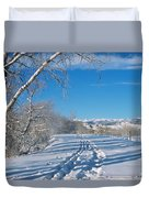 Fresh Tracks Duvet Cover