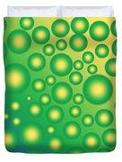 Fresh Tropical Bubbles Duvet Cover