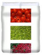 Fresh Vegetable Triptych Duvet Cover