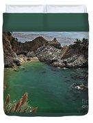 Fresh Water Into The Bay Duvet Cover by Adam Jewell