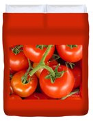 Fresh Whole Tomatos On Vine Duvet Cover