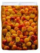 Fresh Yellow Cherries Duvet Cover