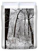 Freshly Fallen Snow Duvet Cover