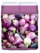 Freshly Harvested Purple Eggplants Duvet Cover