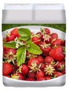 Freshly Picked Strawberries Duvet Cover