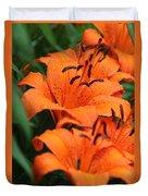 Freshly Showered Tiger Lilys Duvet Cover