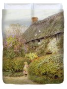 Freshwater Cottage Wc On Paper Duvet Cover