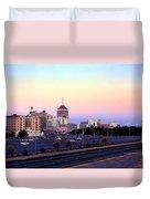 Fresno Skyline Into The Evening Duvet Cover