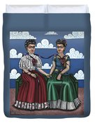 Frida Beside Myself Duvet Cover