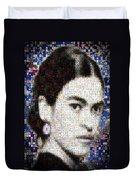 Frida Kahlo Mosaic Duvet Cover