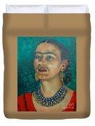 Frida Teal Duvet Cover