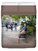 Friend And Companion - Watercolor Effect Duvet Cover