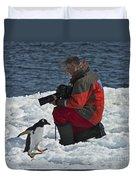 Friend Of The Penguins... Duvet Cover