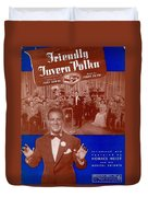 Friendly Tavern Polka Duvet Cover