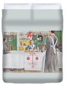 Friends From The Town - Dining Room Duvet Cover