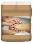 Friends Hands Duvet Cover by Carlos Caetano