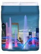 Friendship Fountain Jacksonville Florida Duvet Cover