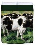 Friesian Cows Duvet Cover