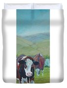 Friesian Holstein Cows Duvet Cover