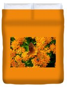 Fritillary On Butterfly Weed Duvet Cover