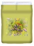 Fritillary On Thistle Duvet Cover