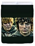 Frodo And Samwise Duvet Cover